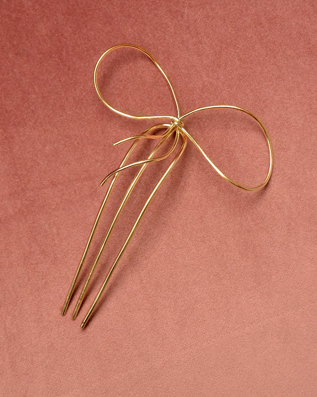 BEATRIZ PALACIOS Bow Tie Hair Comb