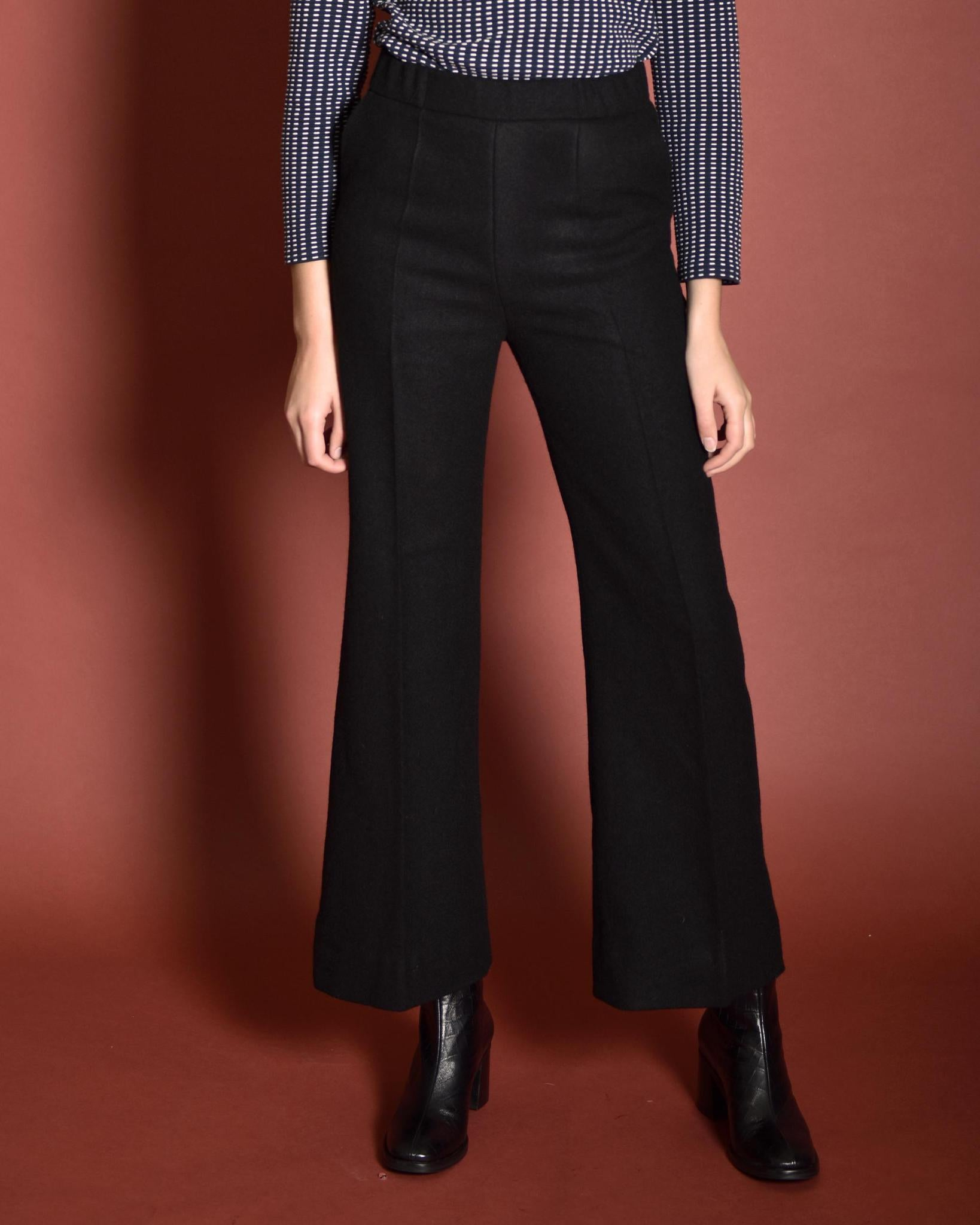 ATRIUM Tailored Wool Suit Pants Black