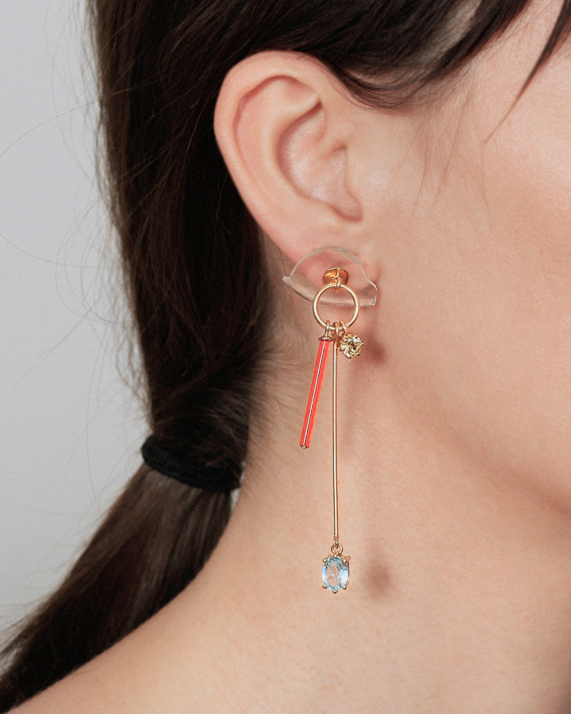 BEATRIZ PALACIOS 1979 Cocktail Mis-Match Earrings