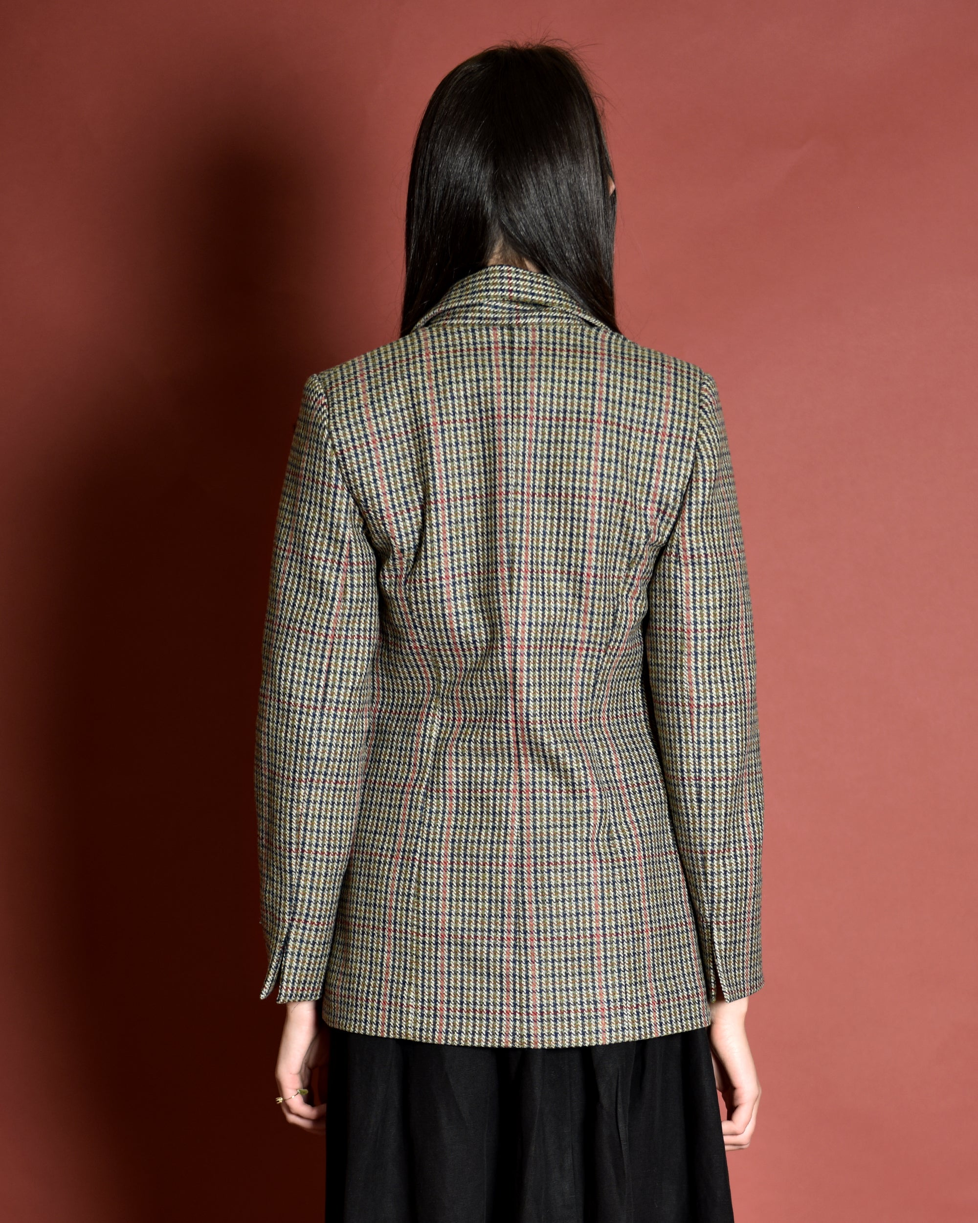 ATRIUM Tailored Wool Suit Jacket / Check