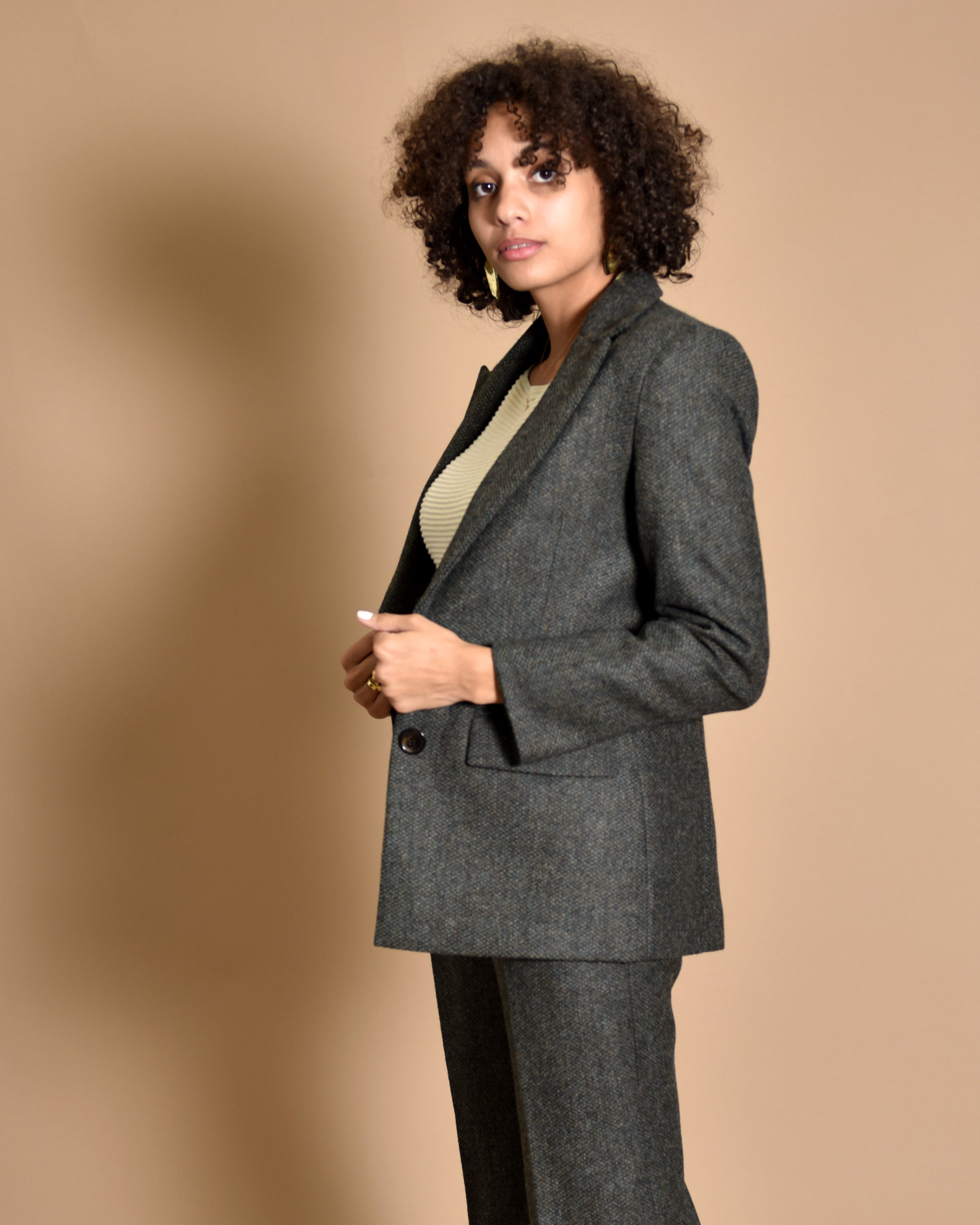 ATRIUM Tailored Wool Suit Jacket / Green