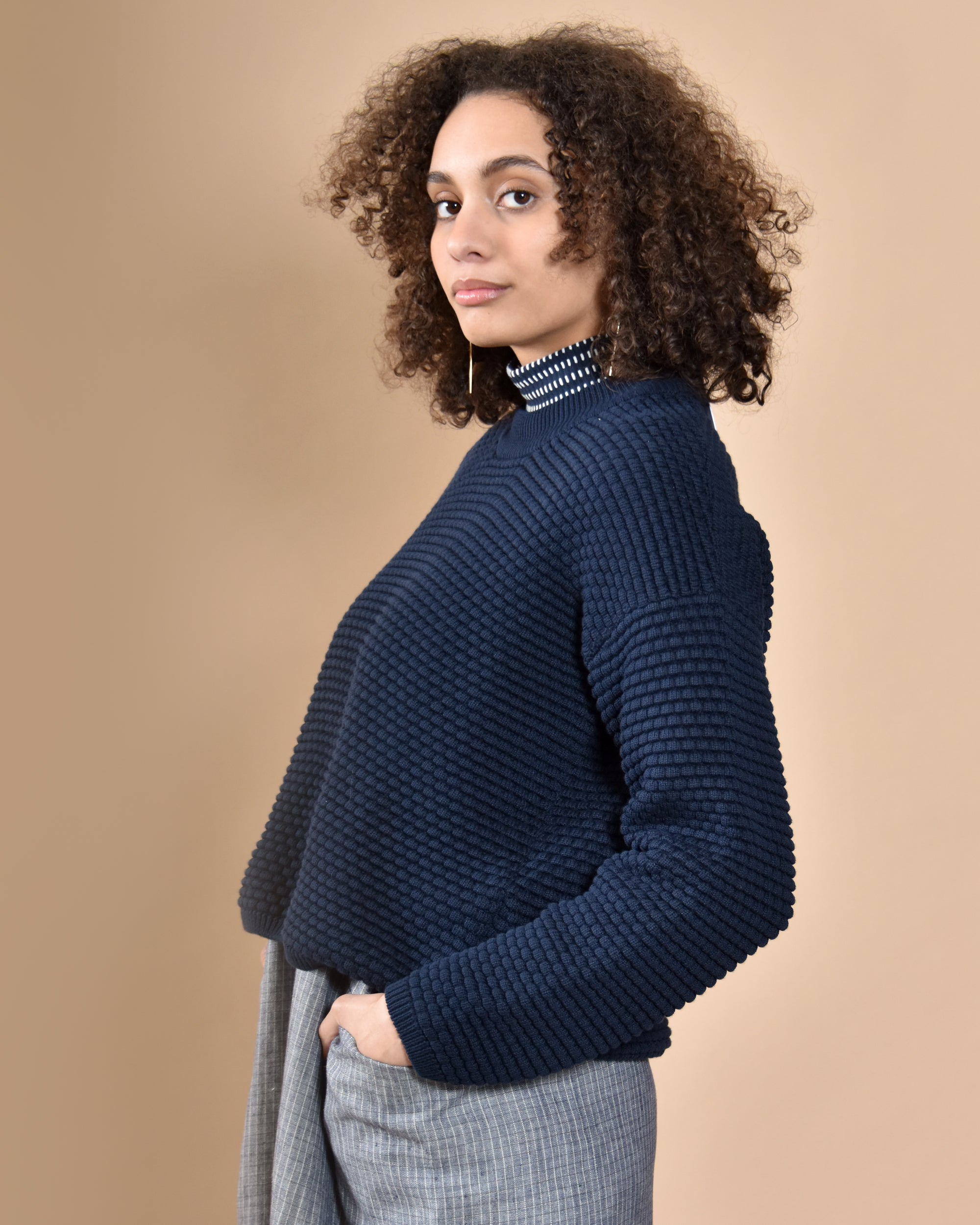 KOWTOW Bubble Crew Knit / Navy