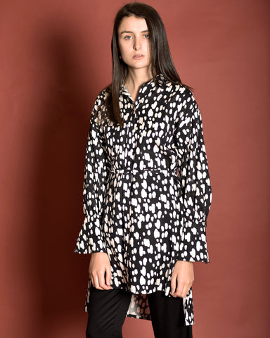 MOTHER OF PEARL Print Shirt Dress