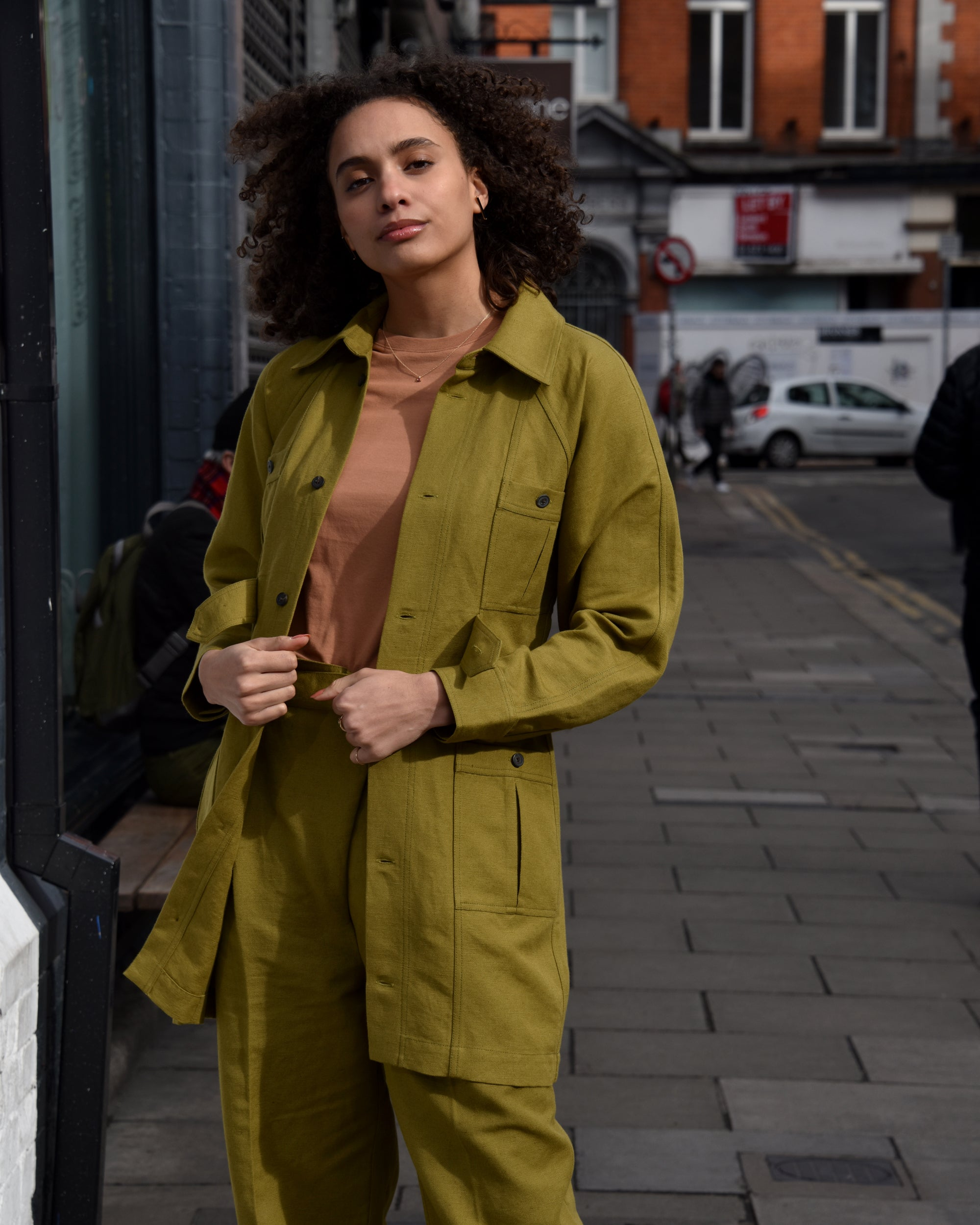 MARA HOFFMAN Ino Shirt Dress / Olive