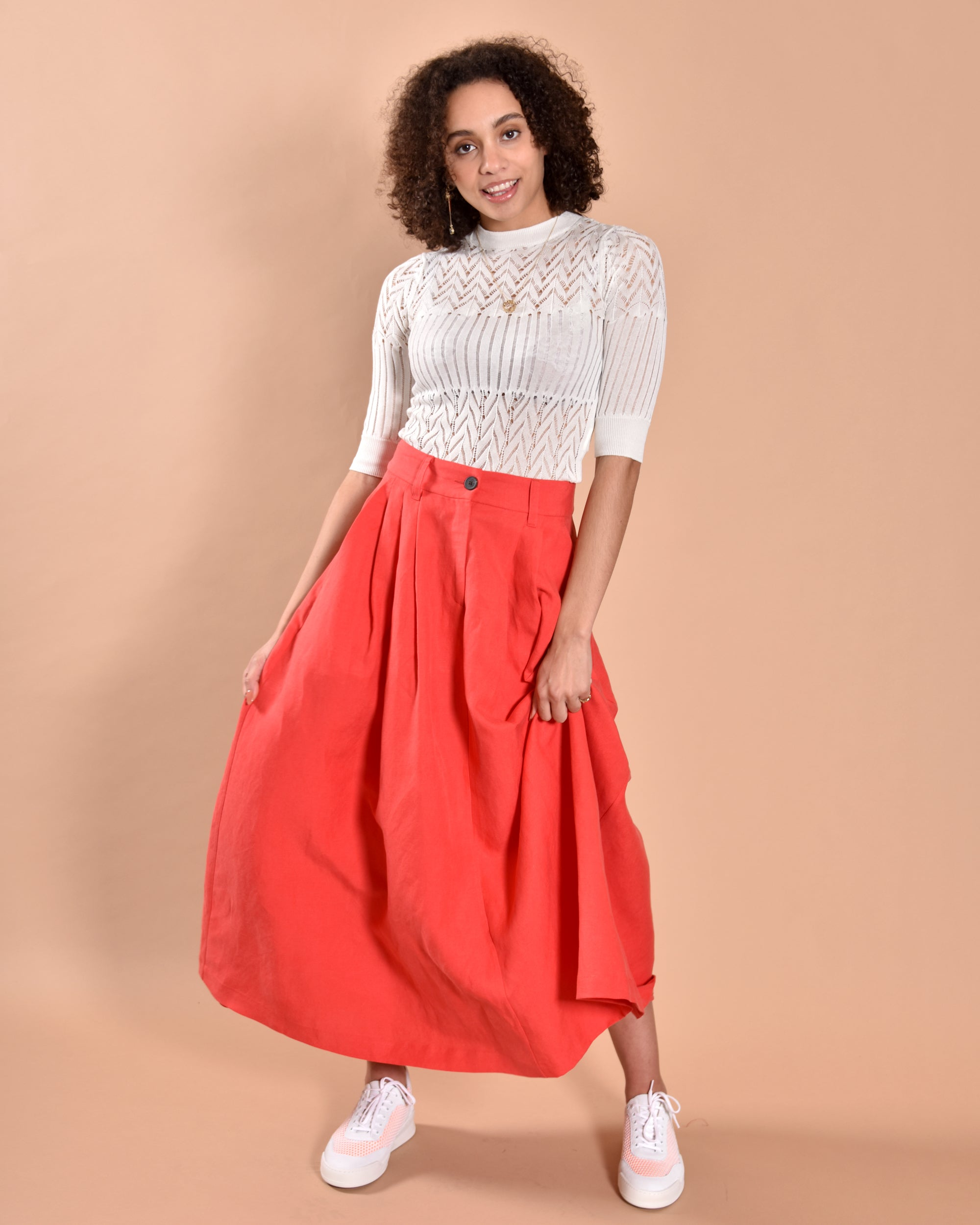 MARA HOFFMAN Tulay Skirt / Red