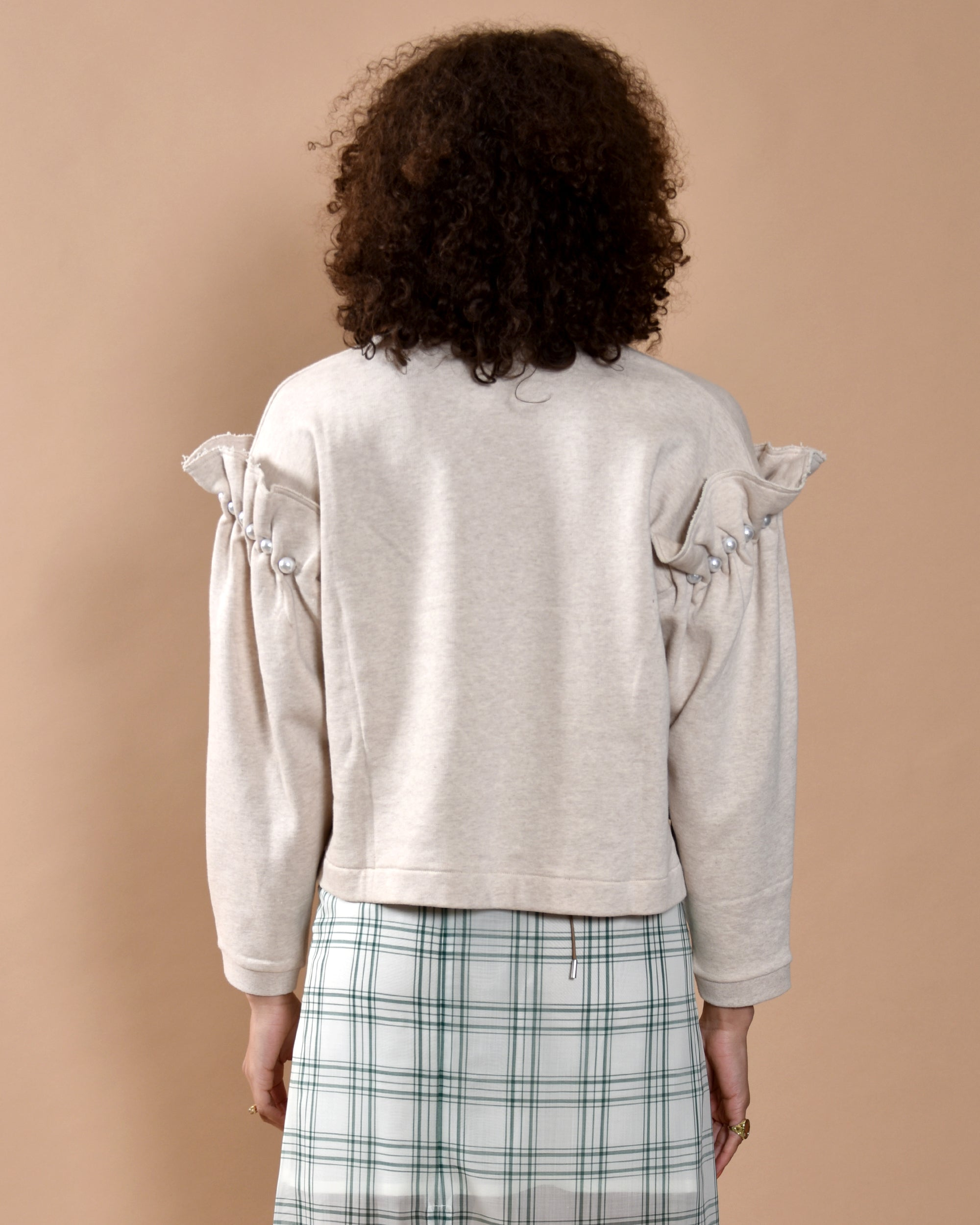 MOTHER OF PEARL Dani Jersey Sweatshirt / Oatmeal