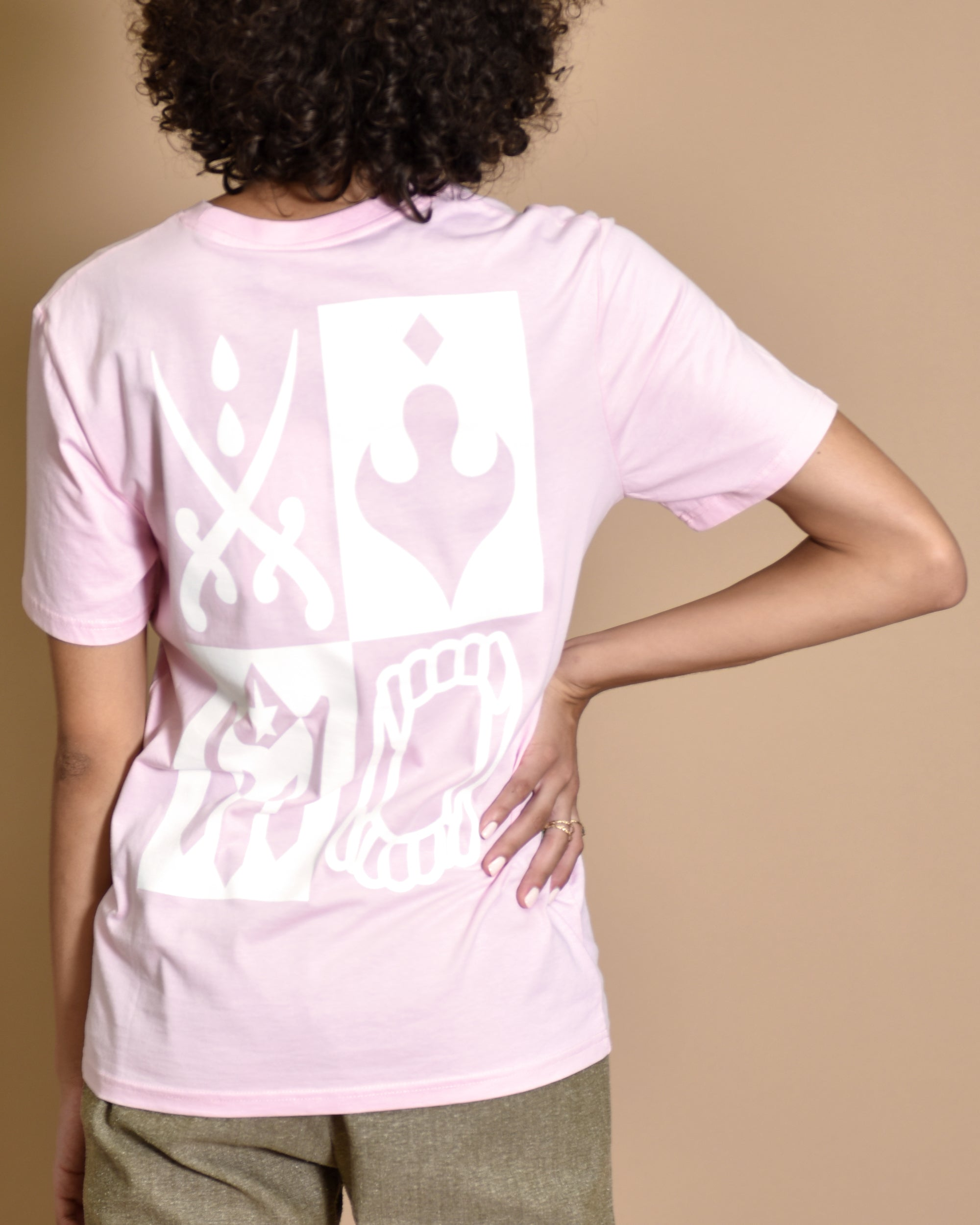 NATALIE B COLEMAN Sisters T-Shirt Pink