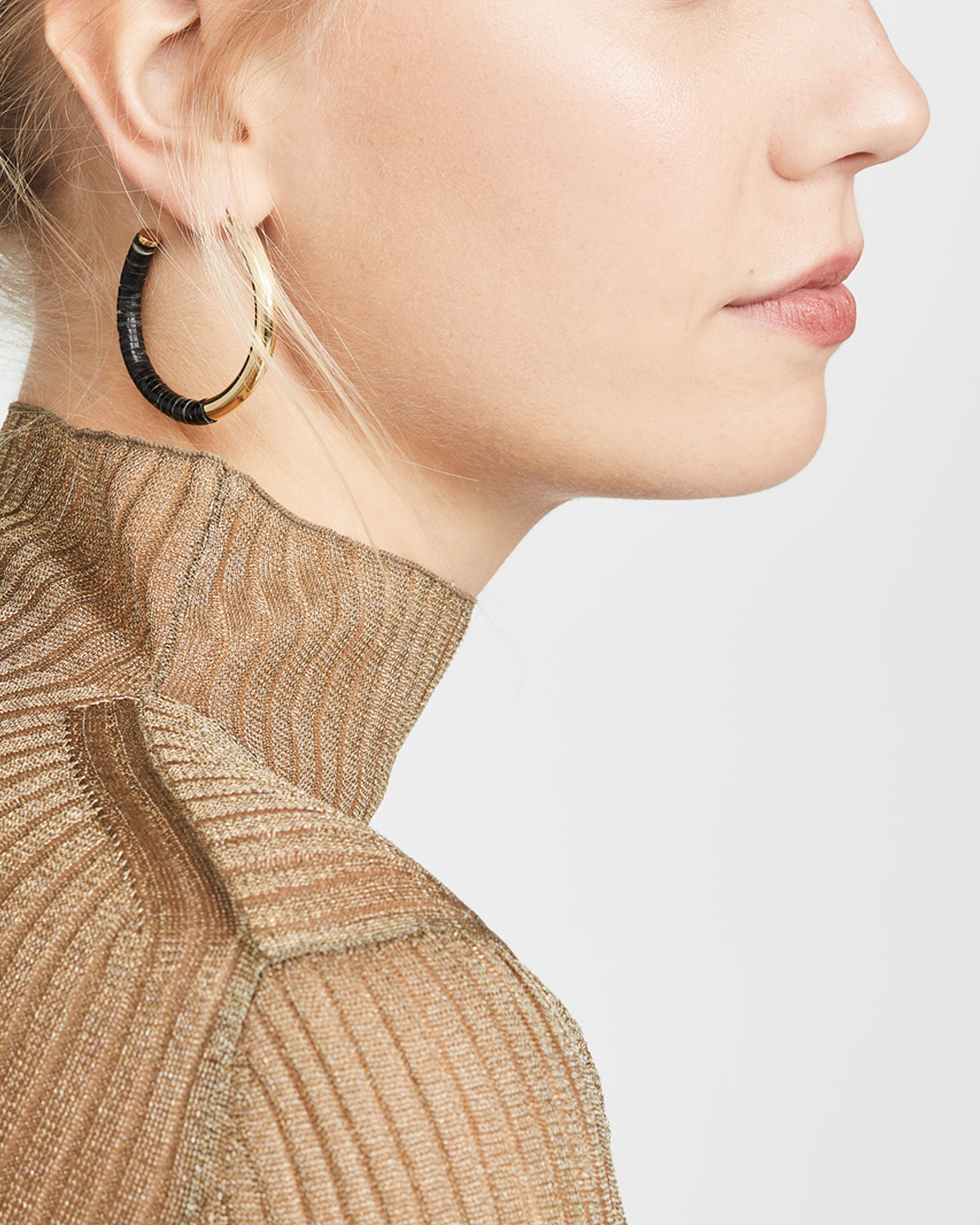 SOKO Karamu Horn Hoop Earrings