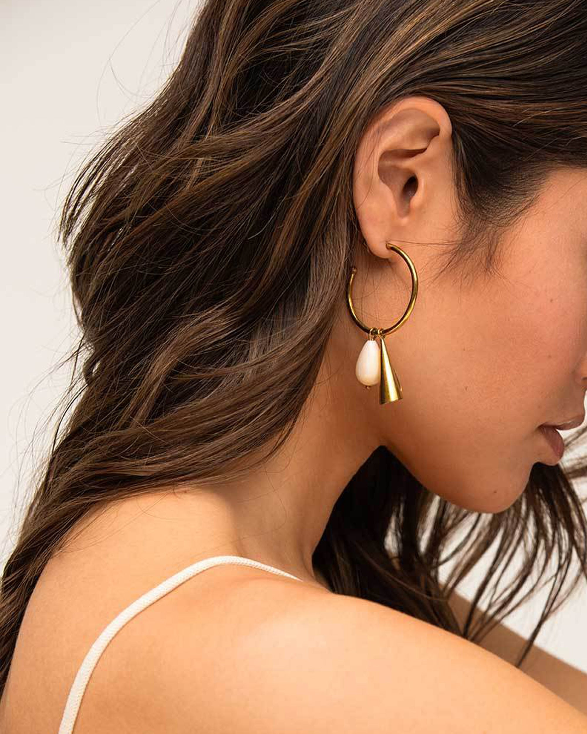 SOKO Malindi Charm Hoop Earrings