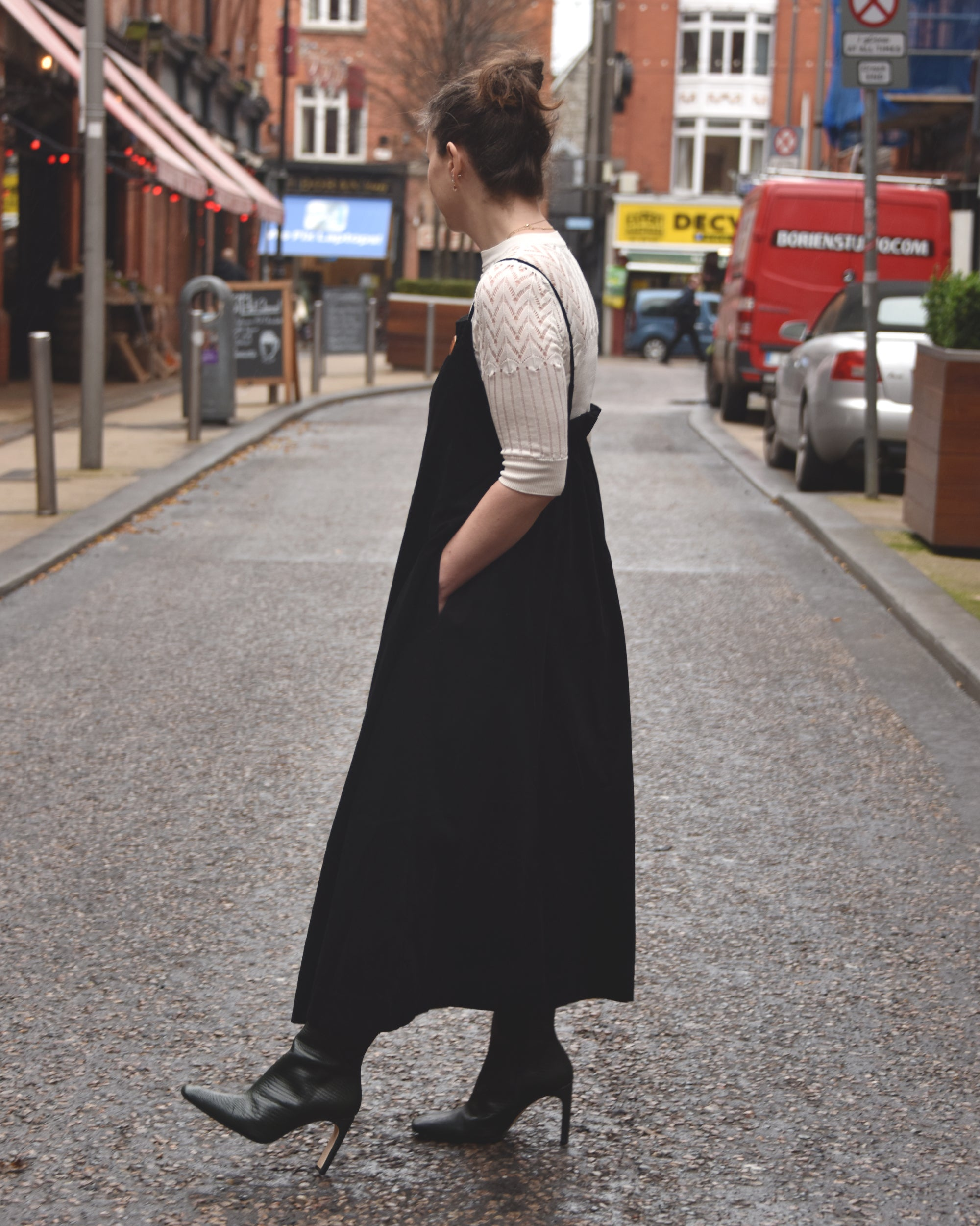 KOWTOW Florence Dress / Black Corduroy