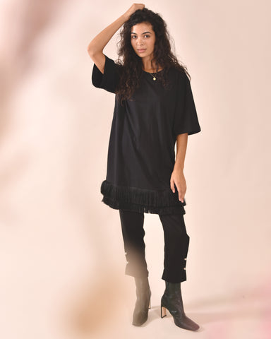 MOTHER OF PEARL Mackenzie T-Shirt Dress / Black