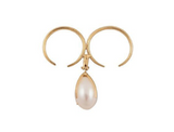 BEATRIZ PALACIOS Pearl Egg Double Ring A01-PRL