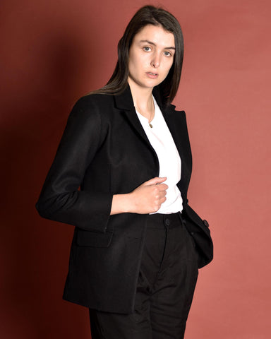 ATRIUM Tailored Wool Suit Jacket / Black