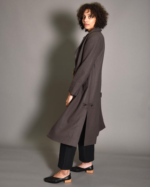 ATRIUM Tailored Wool Coat / Chocolate