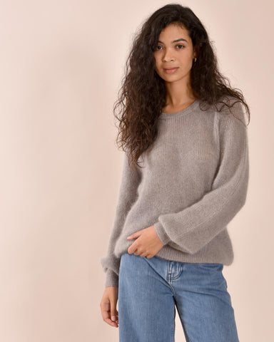 LIAH Galo Sheer Knit / Pale Grey