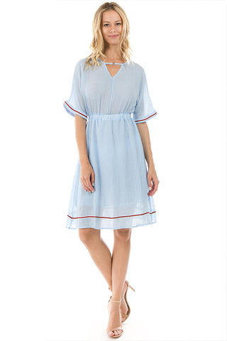 LGP79D LADIES DRESS (L. BLUE)