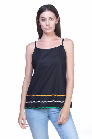 LGP76A LADIES TOP  (BLACK)
