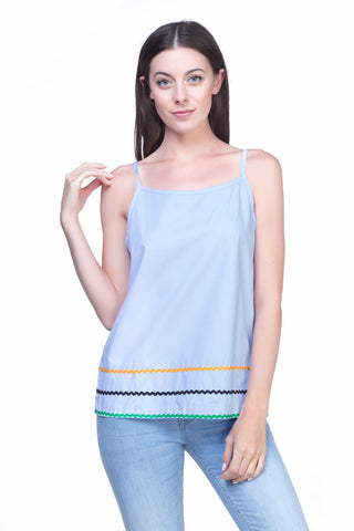 LGP76D LADIES TOP  (L. BLUE)