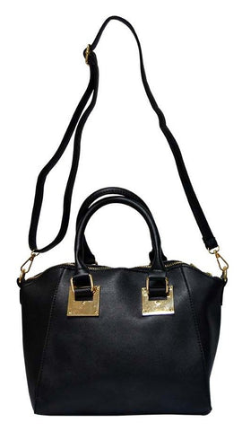 Reflex 1121AGD53 Tote Bag for Women - Faux Leather (Black)