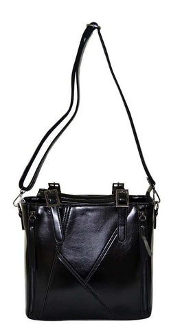 Reflex 1121AGD54 Tote Bag for Women - Faux Leather (Black)