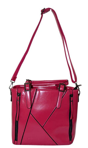 Reflex 1121AGD54 Tote Bag for Women - Faux Leather (Pink)