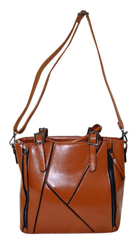 Reflex 1121AGD54 Tote Bag for Women - Faux Leather (Brown)