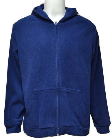 REFLEX 2043MGZ14 FLEEECE JACKET WITH HOOD FOR MEN - BLUE
