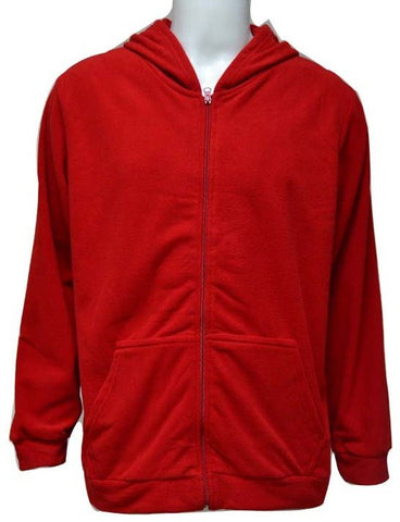 REFLEX 2043MGZ14 FLEEECE JACKET WITH HOOD FOR MEN - RED