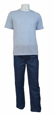 Reflex Pajama Set For Men , Light Grey