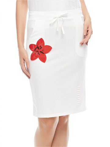 LGL51B LADIES SKIRT S/S (B. WHITE)