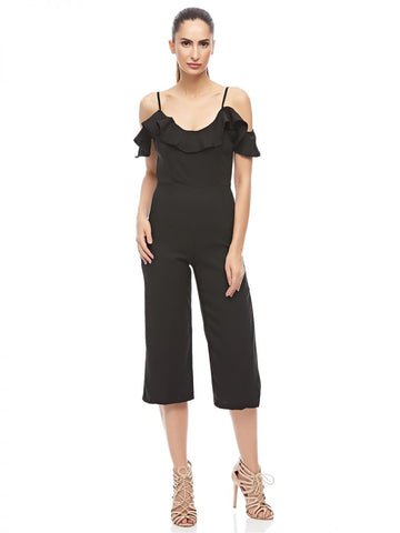 LGL66A LDS FASHION JUMP SUIT (BLACK)