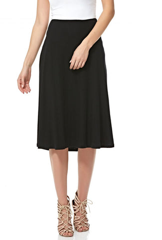 LGM58A28 LADIES LONG SKIRT (BLACK)