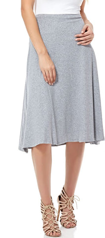LGM58Q28 LADIES LONG SKIRT (L. GREY)
