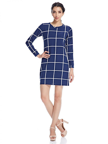 LGM64E LADIES DRESS L/S (M. BLUE)