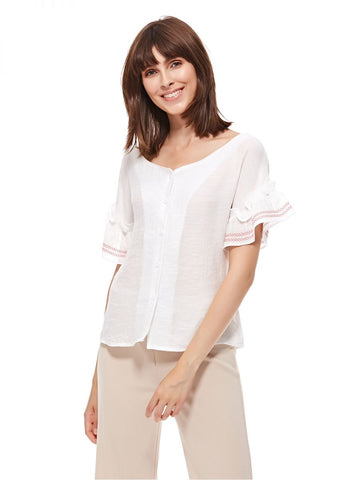 LGP84C LADIES TOP (O. WHITE)