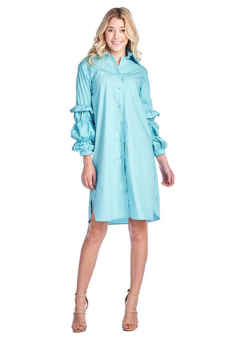 LGQ54D LADIES DRESS (L. BLUE)