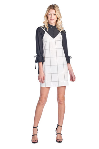 LGQ56B LADIES DRESS (B. WHITE)