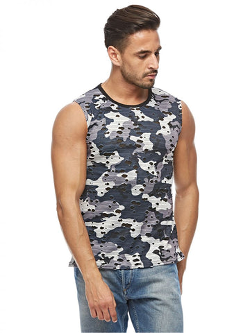 MGL64Q MENS TSHIRT SLEEVELESS (L. GREY)