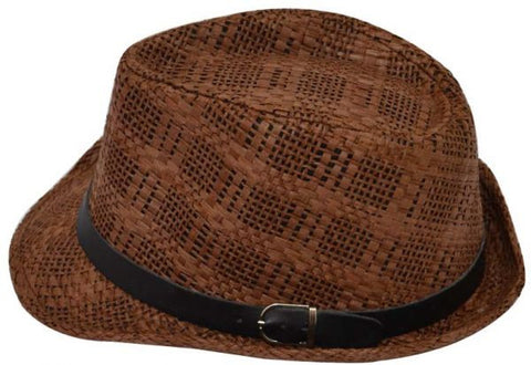 Reflex AGG50P00 Fedora Hat for Men - Dark Brown