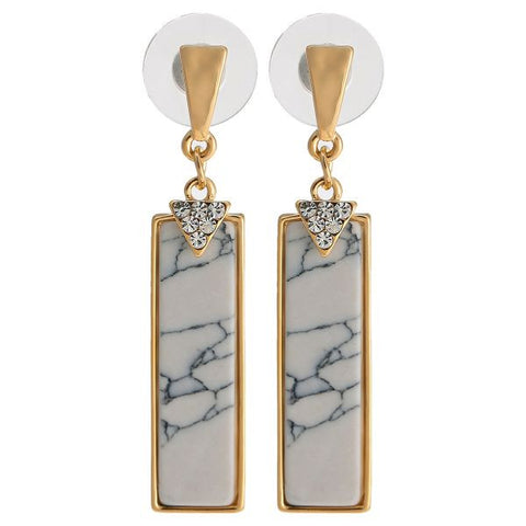 Women's Alloy Drop Earings 1131AGH54 White
