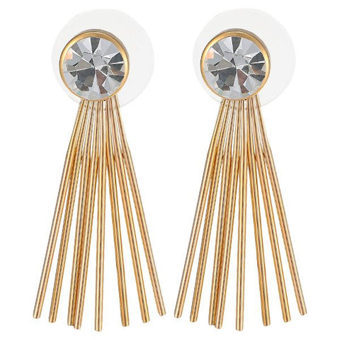 Women's Alloy Drop Earings 1131AGH60 - Gold