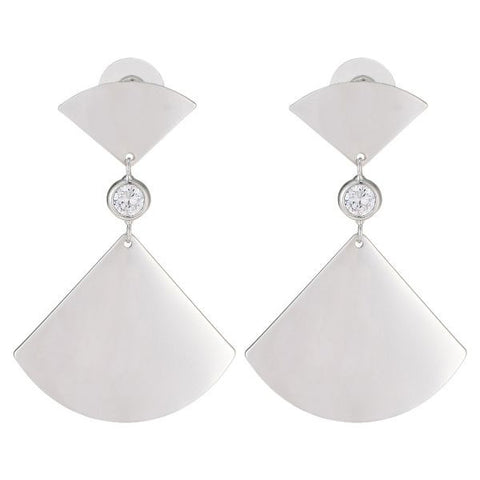 Women's Alloy Drop Earings 1131AGH57 - White
