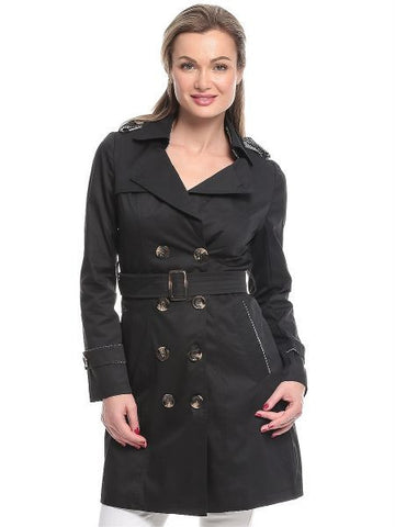 Ladies Trench Coat 1048LGI52 - Black