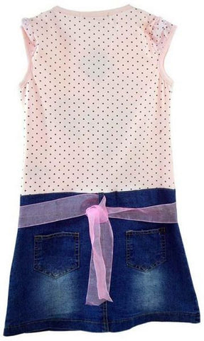Reflex CGC52K03 Denim A Line Dress for Girls -Multi