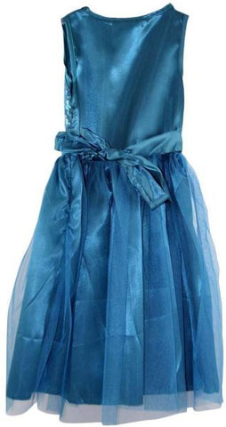 Reflex A Line Dress for Girls , Blue