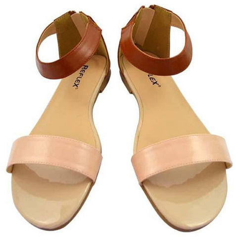 Reflex FGC52T Flats for Women , Beige and Brown