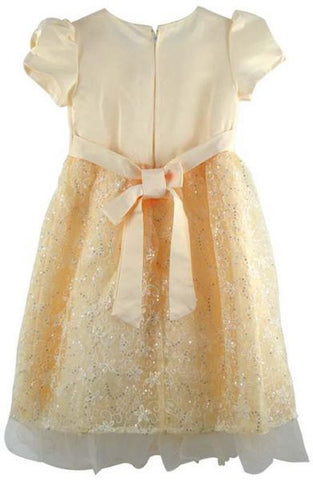 Reflex Formal Party Dress for Girls - 8 Years, Beige