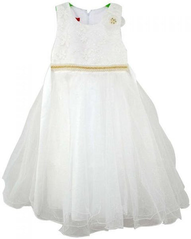 Reflex Formal Party Dress for Girls – White
