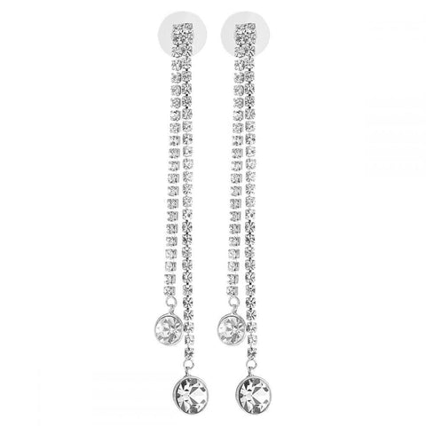 Women's Alloy Drop Earings 1131AGH58 Silver
