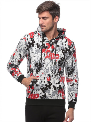 Reflex 2042MGI58 Multi Color Polyester High Neck Hoodie & Sweatshirt For Men - Black